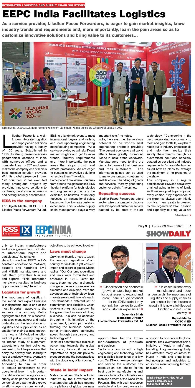 EEPC India Facilites Logistics